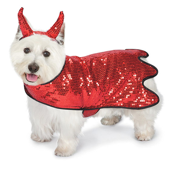 Sequin Devil Dog Costume