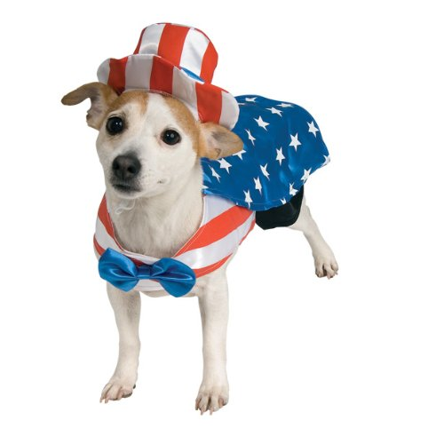 Uncle Sam American Flag dog costume