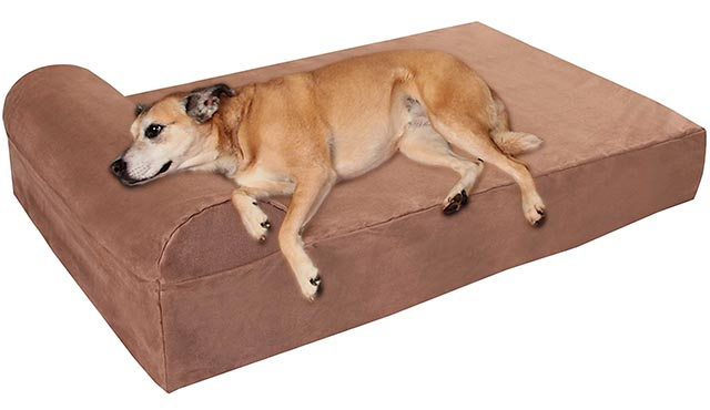 big barker orthopedic dog bed with headrest