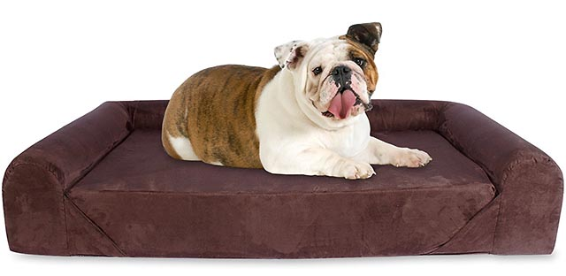Kopeks sofa style memory foam dog bed