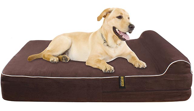 kopeks thick orthopedic dog bed with headrest