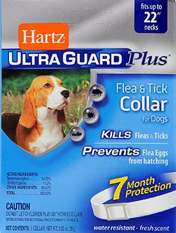 Hartz Ultraguard Plus flea and tick collar for adult dogs