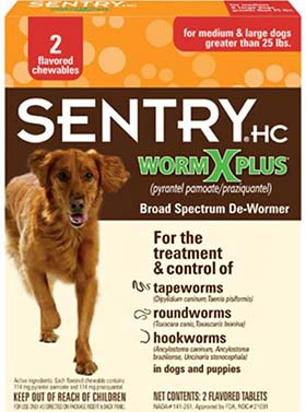 sentry wormxplus large dogs