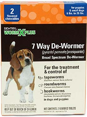 sentry wormxplus small dogs