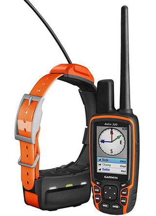 Garmin Astro 320 and T5 GPS collar and device for dogs