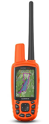 Garmin Astro 430 handheld dog training GPS device