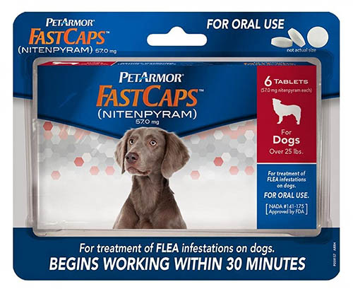 Petarmor Fastcaps dog flea tablets