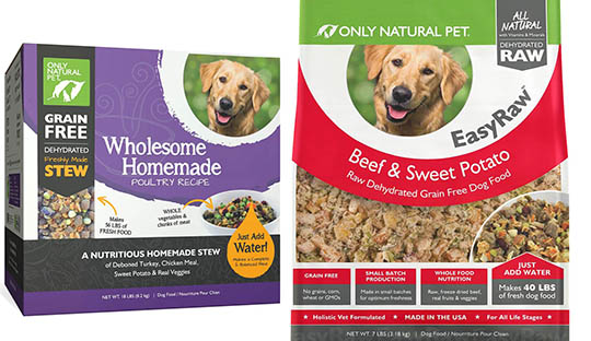 only natural pet dehydrated dog foods