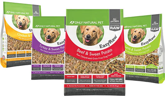 only natural pet easyraw dehydrated dog food range