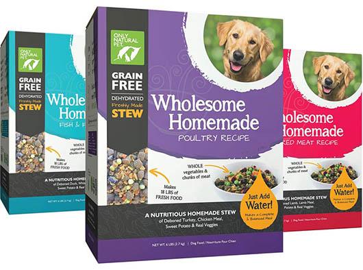 only natural pet wholesome homemade dehydrated dog food range